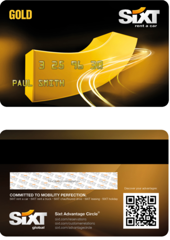 Gold SIXT Card
